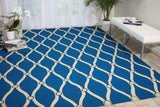 POR02 Navy-Outdoor-Area Rugs Weaver