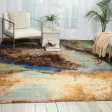 RH016 Blue-Modern-Area Rugs Weaver