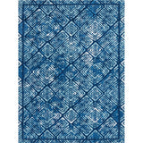 OM002 Blue-Modern-Area Rugs Weaver