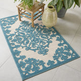 ALH12 Aqua-Traditional-Area Rugs Weaver