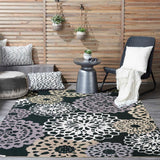 SND72 Black-Outdoor-Area Rugs Weaver