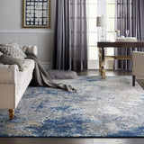 ATW02 Blue-Modern-Area Rugs Weaver