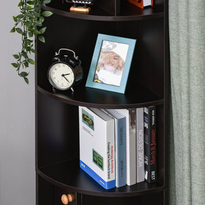 5-Tier Freestanding Bookcase Open Shelves for CDs Records Books Home Office
