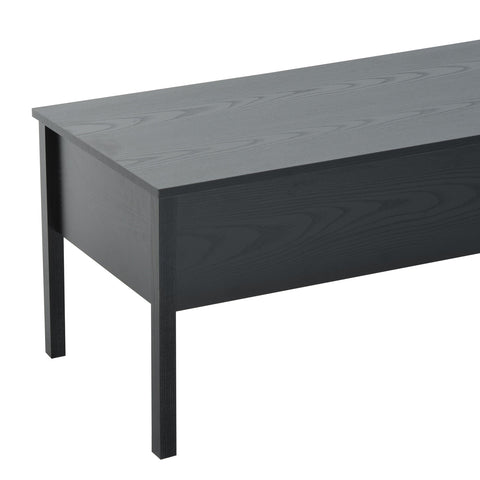 Modern Lift Top Coffee Table Convertible Tea Desk with Hidden Storage Compartment Black