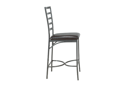 FURNITUREMATTRESSDIRECT-Pub Set with Chairs - 3 pc - Black | Grey E-PS103