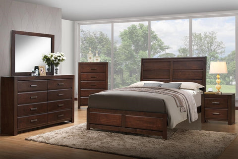 Arius Bedroom Set- 8 Piece in Brown in King