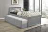 Trundle Day Bed in Single With Trundle Bed in Grey