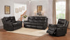 FURNITUREMATTRESSDIRECT-3-PC SOFA RECLINER SET IN GREY A-SS110