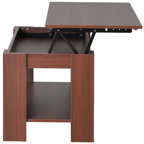 Modern Lift Top Coffee Table Hidden Storage Compartment Living Room Furniture