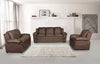 FURNITUREMATTRESSDIRECT-3-PC HIGH TECH SOFA SET IN BROWN A-SS114