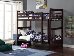 FURNITUREMATTRESSDIRECT-Mission Bunk Bed in Espresso - INTBBED600