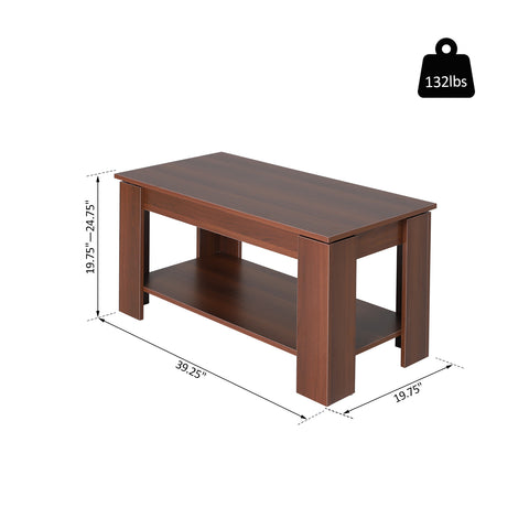 Image of Modern Lift Top Coffee Table Hidden Storage Compartment Living Room Furniture