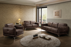 FURNITUREMATTRESSDIRECT-3-PIECE SOFA SET IN LIGHT BROWN - A-SS118