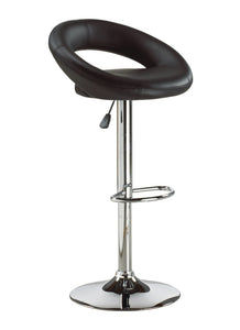 FURNITUREMATTRESSDIRECT-BAR STOOL WITH CURVED BACK & 360° SWIVEL LEATHER SEAT D-BS113