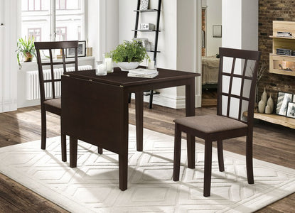 DINETTE ADJUSTABLE SET IN ESPRESSO