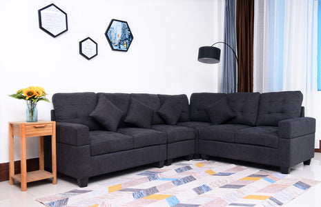 Black Ralph Sectional Set
