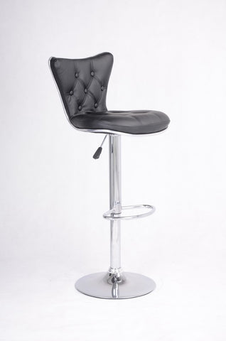 FURNITUREMATTRESSDIRECT-BLACK TUFTED BAR STOOL WITH LEATHER D-BS105
