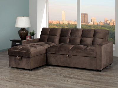 CHELSEA SECTIONAL SET BROWN
