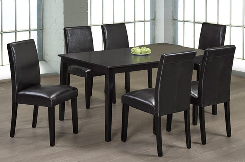 Image of Solid Wood Kitchen Set With 6 Chairs