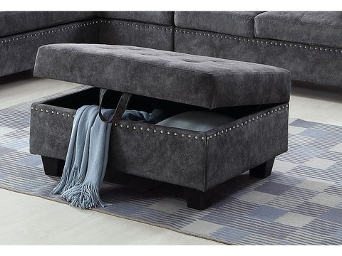 Image of Tufted Sectional in Grey