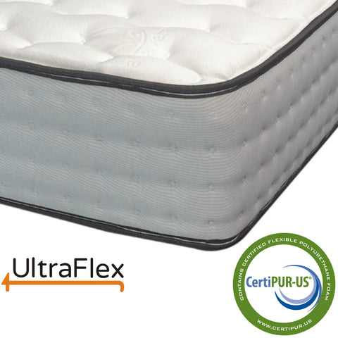 "Ultraflex GLORY- 10"" Orthopedic Pocket Coil Foam Encased Hybrid Mattress"