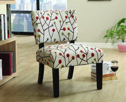 FurnitureMattressDirect- ACCENT CHAIR WITH WOODEN LEGS - BEIGE