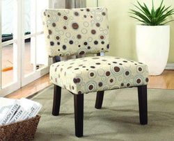 FurnitureMattressDirect- ACCENT CHAIR WITH WOODEN LEGS - BEIGE AA
