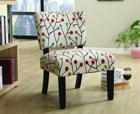 FurnitureMattressDirect- Accent Chair with Wooden Legs - Beige A-AC100