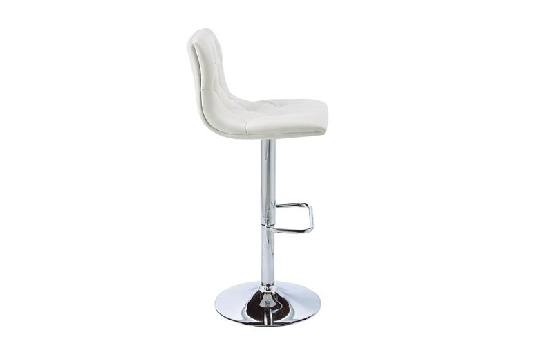 FurnitureMattressDirect- Bar Stool with Crystal Tufted Leather (White)02