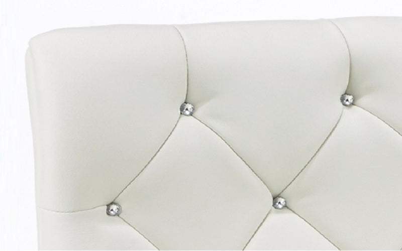 FurnitureMattressDirect- Bar Stool with Crystal Tufted Leather (White)03