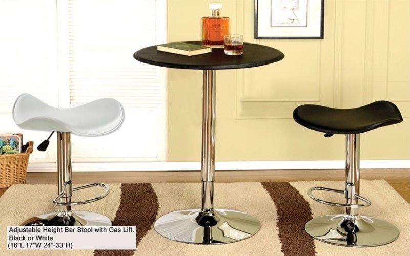 FurnitureMattressDirect- Bar Stool with Flat Seat (Black)