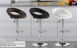 FurnitureMattressDirect- Bar Stool with Round Back (Black)