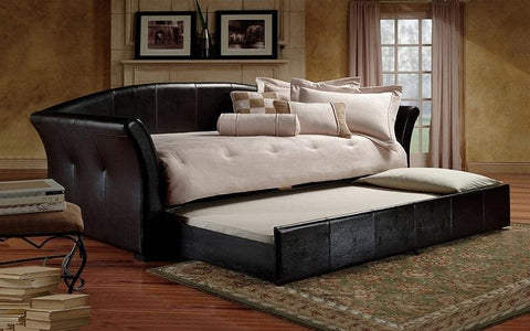 Image of FurnitureMattressDirect- Day Bed with Twin Trundle - Black01