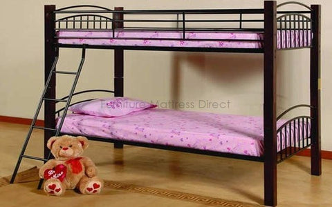 Image of FurnitureMattressDirect- Detachable Wood and Metal Bunk Bed01