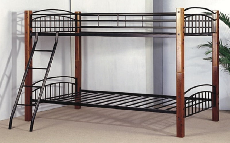 FurnitureMattressDirect- Detachable Wood and Metal Bunk Bed02