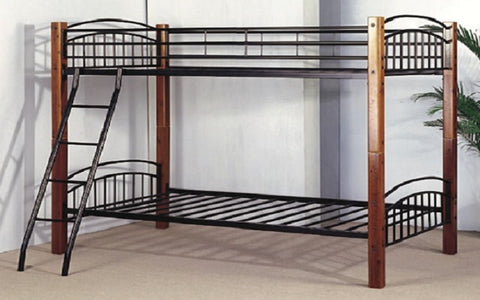 Image of FurnitureMattressDirect- Detachable Wood and Metal Bunk Bed02