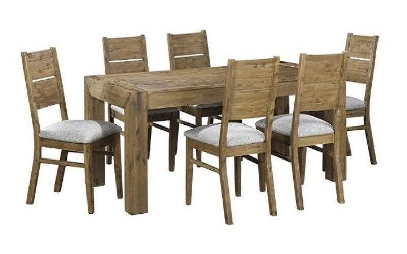 FurnitureMattressDirect- Distressed Driftwood Dining Table Set