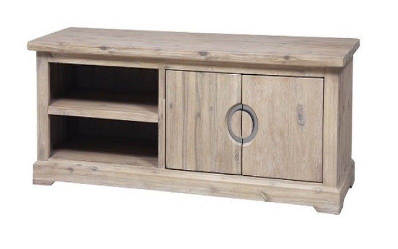 FurnitureMattressDirect- Distressed Driftwood Entertainment Stand