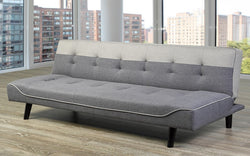 FurnitureMattressDirect- Fabric Sofa Bed with Two Tone (Grey)01