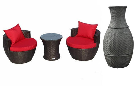 Image of FurnitureMattressDirect- Outdoor Bistro Set - 3 pc01