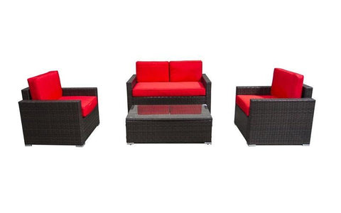 FurnitureMattressDirect- Outdoor Seating Set - 4 pc II01