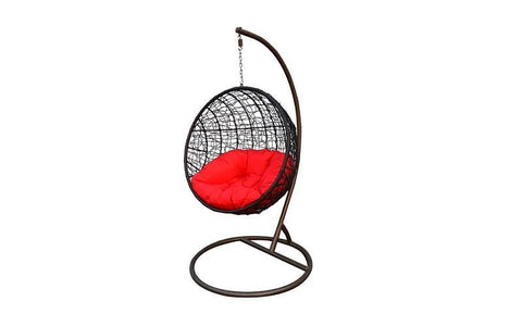 FurnitureMattressDirect- Outdoor Swing Chair - Dark Brown01