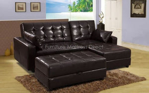 FurnitureMattressDirect- Sectional with Klik klak Sofa, Chaise and Storage ottoman01