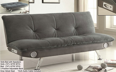 FurnitureMattressDirect- Sofa Bed with Speakers (Grey)