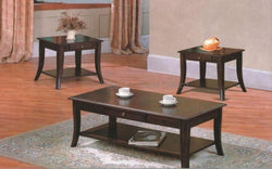 FurnitureMattressDirect- Solid Wood Coffee Table set with drawers and shelf