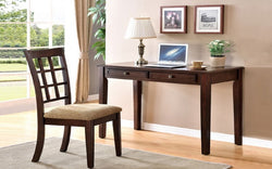 FurnitureMattressDirect- Solid Wood Desk & Chair Set - Espresso