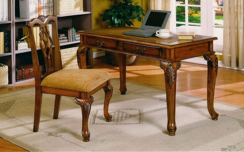 FurnitureMattressDirect- Solid Wood Desk & Chair Set - Walnut  World Map