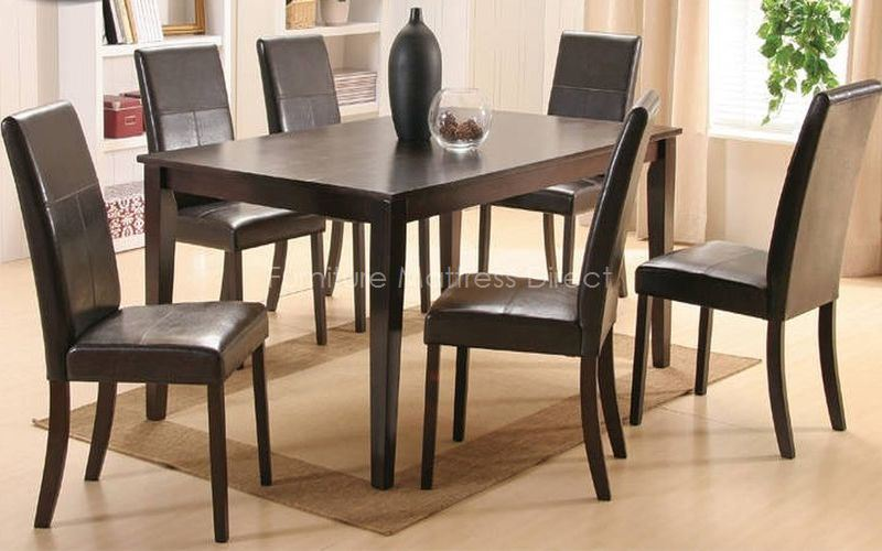 FurnitureMattressDirect- Solid Wood Dining set with 6 chairs