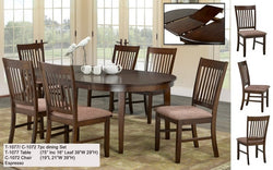 FurnitureMattressDirect- Solid Wood Kitchen Set - 7 pc (Self Storage Butterfly Leaf)
