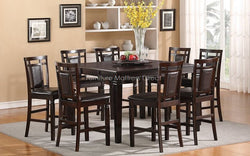 FurnitureMattressDirect- Solid Wood Pub Set and 8 Pub chairs